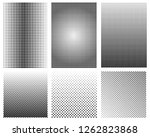 set of halftone backgrounds | Shutterstock .eps vector #1262823868