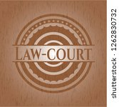 law court realistic wooden...