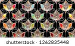 colorful digital wall tiles... | Shutterstock . vector #1262835448