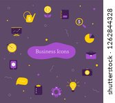 business icons collection on...
