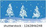 vector illustration christmas... | Shutterstock .eps vector #1262846248