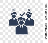 selection process icon. trendy... | Shutterstock .eps vector #1262851408