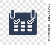 schedule icon. trendy schedule... | Shutterstock .eps vector #1262851432