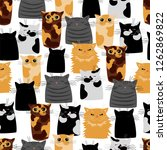 vector background with cats of... | Shutterstock .eps vector #1262869822