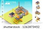 isometric industrial... | Shutterstock .eps vector #1262873452