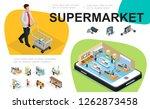 isometric supermarket... | Shutterstock .eps vector #1262873458