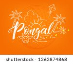 south indian festival pongal... | Shutterstock .eps vector #1262874868