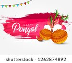 south indian festival pongal... | Shutterstock .eps vector #1262874892