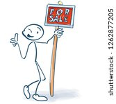 stick figure with a red sign... | Shutterstock .eps vector #1262877205