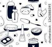 cosmetics seamless pattern... | Shutterstock .eps vector #1262888395