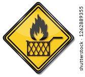 fire in the deep fryer | Shutterstock . vector #1262889355