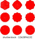grunge post stamps collection ... | Shutterstock .eps vector #1262896132