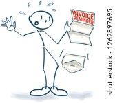 stick figure with a sudden... | Shutterstock .eps vector #1262897695