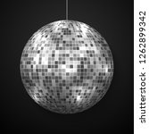 mirror disco ball isolated.... | Shutterstock .eps vector #1262899342
