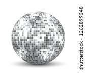 mirror disco ball isolated.... | Shutterstock .eps vector #1262899348