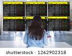 woman traveller watching at... | Shutterstock . vector #1262902318