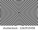 black and white spiral strips... | Shutterstock . vector #1262915458