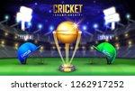 cricket championship banner... | Shutterstock .eps vector #1262917252