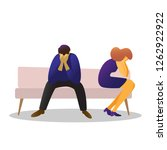 man and woman sad sitting on... | Shutterstock .eps vector #1262922922