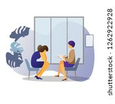 patient sad woman and... | Shutterstock .eps vector #1262922928