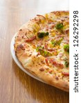 pizza with bacon  cheese and... | Shutterstock . vector #126292298