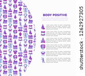 body positive concept with thin ... | Shutterstock .eps vector #1262927305