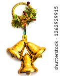 bells with christmas decoration ... | Shutterstock . vector #1262929915