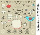 lovely romantic set for your... | Shutterstock .eps vector #126293546