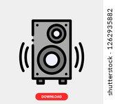 speaker concept line icon....