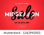 sale banner template  midseason ... | Shutterstock .eps vector #1262942002