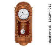 antique wooden clock isolated... | Shutterstock .eps vector #1262944012