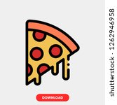 pizza sound concept line icon....