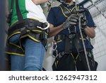 training for work on height... | Shutterstock . vector #1262947312