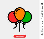 balloon concept line icon....