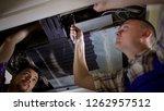 personnel fixing air...   Shutterstock . vector #1262957512