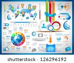 infographic elements   set of...   Shutterstock . vector #126296192