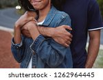 arms of man hugging his... | Shutterstock . vector #1262964445