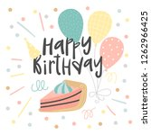 birthday background with a... | Shutterstock .eps vector #1262966425
