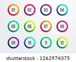 vector illustration creative... | Shutterstock .eps vector #1262974375