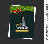 merry christmas 2019 background.... | Shutterstock .eps vector #1262981065
