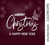 merry christmas 2019 background.... | Shutterstock .eps vector #1262981098
