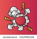 speech bubble pop art style | Shutterstock .eps vector #1262983168