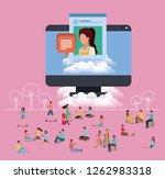 social community using... | Shutterstock .eps vector #1262983318