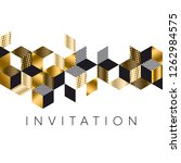 abstract luxury gold and black... | Shutterstock .eps vector #1262984575