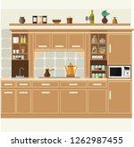 vector kitchevector kitchen set.... | Shutterstock .eps vector #1262987455