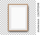 realistic brown photo frame....   Shutterstock .eps vector #1262992048