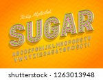 comical tasty 3d display font... | Shutterstock .eps vector #1263013948