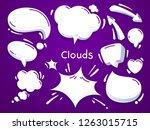 white clouds set. speech bubble ... | Shutterstock .eps vector #1263015715