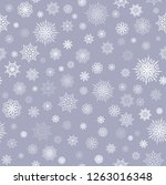 snowflakes vector background.... | Shutterstock .eps vector #1263016348