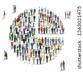 large group of people decide ... | Shutterstock . vector #1263021475